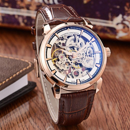 Types Gems Australia - 2018 Watch Type: Fine Men's Watch Strap: Genuine Leather Strap Movement: Top Automatic Mechanical Movement