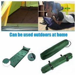 Wholesale Outdoor Air Pads Hiking Travel Camping Mat Water Resistant Thick Sleeping Bed Office Sleeping Pads Single Pillow Bed abou cm CNY22