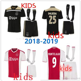 bfe3178dc New Ajax Soccer Jerseys kids kits 2018 2019 Home away YOUNES ZIYECH NOURI  DOLBERG VAN DE BEEK 18 19 Ajax child Football Shirts uniforms
