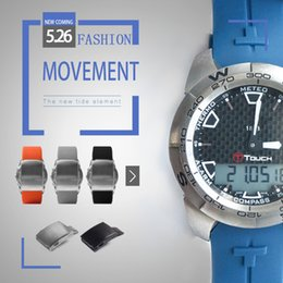 Watch man touch online shopping - 21mm Watch Strap Bands Man Orange Blue Black Waterproof Silicone Rubber Watchbands Sports Bracelet For Tissot T touch T013420 T047