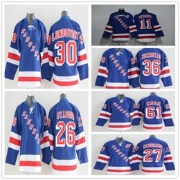 Youth New York Rangers Hockey Jersey 30 Henrik Lundqvist 27 Ryan McDonagh 36  Mats Zuccarello 61 Rick Nash 11 Mark Messier 06477686a