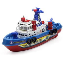 Vente en gros Bateau électrique enfants jouets de sauvetage maritime bateau de feu enfants jouet électrique haute vitesse de navigation non-navire de guerre enfants cadeau