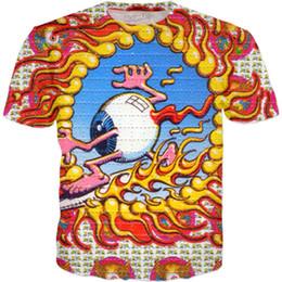 $enCountryForm.capitalKeyWord UK - 2018 Fashion Acid Eyeball T Shirt Hip Hop Clothing Harajuku Famous Brand Men Designer 3D Printed Funny T Shirt Top Tees