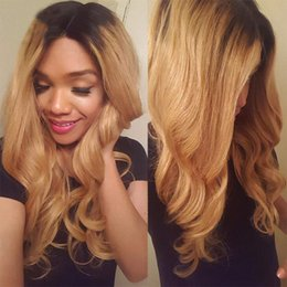 Chinese  Body Wave Ombre 27 Color Lace Front Human Hair Wig 1B 27 Lace Front wig Remy Hair Brazilian Full Lace Human Hair Wigs manufacturers