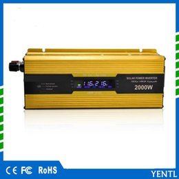 Wholesale free shipping Car Inverter 12v to 220v Power Inverters Voltage Transformer Converter 12 220 2000W Charger Displarter Charger Converter