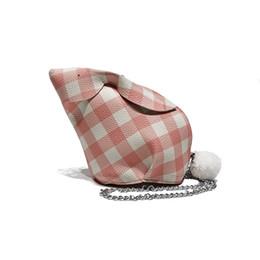 Ins super fire handbag new wave Korean fashion lattice rabbit shape bag  personality fashion wild shoulder diagonal pouch eb61e2c9d45a6
