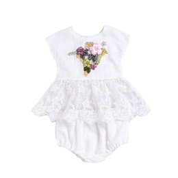 3e6398805ff Mikrdoo Toddler Baby Girl Cute Embroidery Clothes Set Sleeveless Floral  Lace Top + Bottom 2PCS Outfit Summer Lovely Sundress
