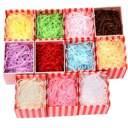 party present box UK - 20g bag Multicolor Shredded Crinkle Paper Raffia Craft Present Candy Box Gift Box Filling Material Wedding Party Decoration