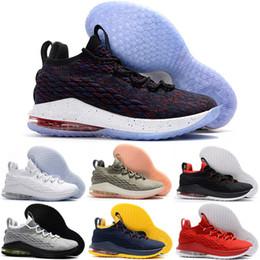 LeBron 15 Low Ashes Black Gold Dark Stucco Supernova Chaussures de basket-ball  pour hommes Sneakers 15s Low South Beach XV Chaussures de sport Designer ... 2566c61e2