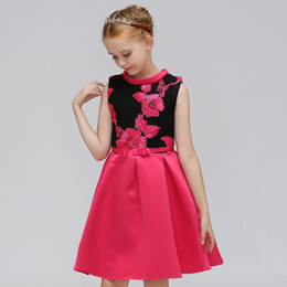 sexy girls satin dresses UK - flower girls dresses for weddings Baby Party frocks sexy children images Dress kids prom dresses evening gowns 2019