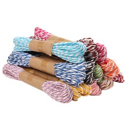 $enCountryForm.capitalKeyWord UK - DIY Twine Rope String Cord Twisted Paper Raffia Craft Favor Gift Wrapping Thread Scrapbooks Invitation Decoration 5prick set 10M prick