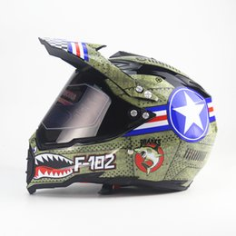 Atv full fAce helmet online shopping - Hot sale ATV Motorcycle Helmet Adult motocross Off Road Helmet motorbike full face Casque De Moto