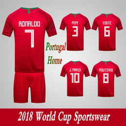 American Football Teams Australia - Men's Tracksuits Portugal National Team Home Football Sport Suits 2018 World Cup Soccer Uniform Clothes Shorts