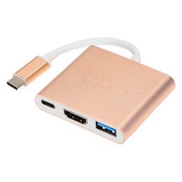 Hub cables online shopping - USB3 Type C to K HDMI USB C Digital AV Multi port Adapter K OTG USB HUB Charger for Macbook quot Converter in adaptor