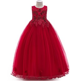 $enCountryForm.capitalKeyWord UK - New Arrival Flower Girls Dresses Children Fashion Sleeveless Party Wedding Graduation Ball Gown Formal Kids christmas elegant Clothing