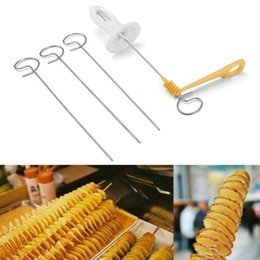 $enCountryForm.capitalKeyWord NZ - Creative Tornado Potato Spiral Cutter Slicer Manual Spiral French Fry Cutter Potato Tower Chips Making Twist Shredder Cooking Tools supplies