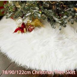 $enCountryForm.capitalKeyWord NZ - Free shipping 2019 Wholesales 78 90 122CM White Christmas Tree Skirt Stand Apron Ornaments Party Home Decor
