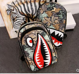 $enCountryForm.capitalKeyWord NZ - Graffiti Anime Shark Printing Backpack For Teenage Boy Girl Women Men School Bags Cool Laptop Bag Travel Backpack