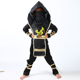 Tv Clothes NZ - Black Ninjago Cosplay Costume Boys Clothes Sets Children Clothing Halloween Christmas Fancy Party Clothes Ninja Streetwear Suits