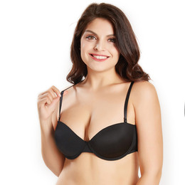 $enCountryForm.capitalKeyWord Australia - Women Padded Bra Plus Size Strapless Bra Sexy Lingerie Dual-use Bra Transparent Straps Comfortable Fabric Bralette pj6015