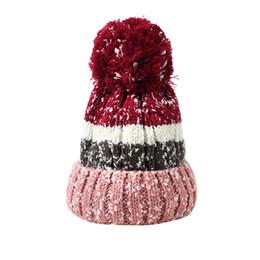 Snow Beanies Australia - Adult Women Men Winter Snow Crochet Hat Knit Hat  Beanie Hairball Warm a0a550dd94d