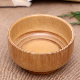 BamBoo Bowls online shopping - Bamboo System Kitchen Tableware Original Ecology Wooden Bowls Pure Color High Capacity Food Container jh Ww