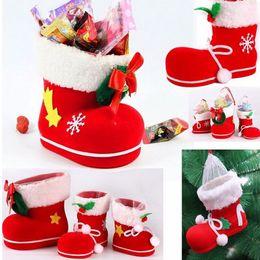 decorative christmas gift boxes wholesale australia 3 sizes 1pc christmas boots flocking boots socks creative - Christmas Gift Boxes Wholesale