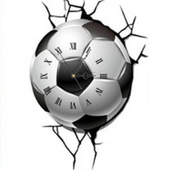 Discount football wall light 2018 football wall light on sale at discount football wall light new arrival 3d real football wall clock stickers home decor children bedroom mozeypictures Images