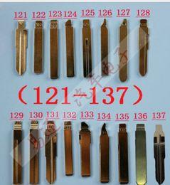 Blade Key Australia - 17Pcs Lot Folding key blade Full Types Car key embryo replacing the key head Remote Blade Original Slot Type A NO 121-137