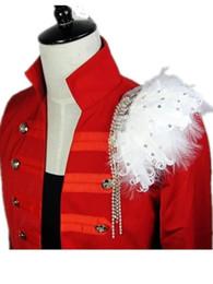 $enCountryForm.capitalKeyWord UK - Feather shoulder epaulette Handmade pheasant ostrich epaulet shoulder host performance costume men blazer accessories wholesale