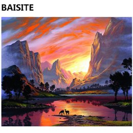 $enCountryForm.capitalKeyWord NZ - BAISITE Frameless DIY Oil Painting Pictures By Numbers On Canvas Wall Pictures Wall Art For Living Room Home Decoration 977