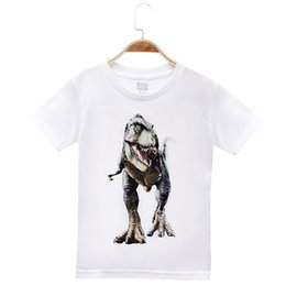 tee baby Canada - 2018 New Arrival Children Clothes Kids T-shirts Animal Dinosaur 100% Cotton Child Boys Short T Shirt Baby Clothing Girls Tops Tees 4-12T