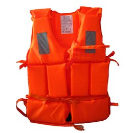 Kids Sports Whistle Australia - Kid To Adult Size Life Vest With Survival Whistle Water Sports Foam Life Jacket For Drifting Water-skiing Upstream Surfing