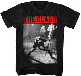 Black s guitar online shopping - THE CLASH Smashing Guitar T SHIRT S M L XL XL XL Brand New Official T Shirt Quality Print New Summer Style Cotton top tee