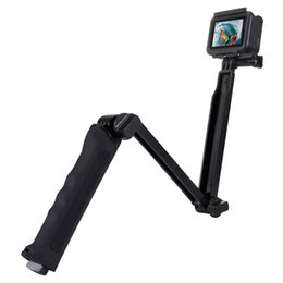 PULUZ 3-полосная ручка складной многофункциональный Selfie Stick со штативом для смартфонов для GoPro для камер DSLR
