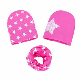 Mother & Kids Autumn Winter Cute Love Heart Print Child Neck Collar And Hat Cap Set Cotton Baby Hat And Scarf 2pc Sets Cool In Summer And Warm In Winter