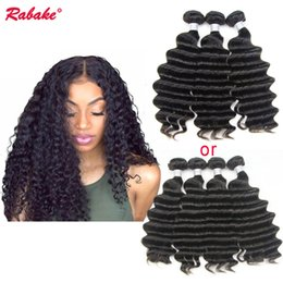 cheap remy hair extensions 2019 - Loose Deep Wave Human Hair Weave Bundles Rabake Cheap Brazilian Unprocessed 9A Virgin Remy Loose Deep Curly Cuticle Alig