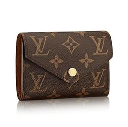 Chain Longer Australia - M62472 VICTORINE WALLET old flowers brown Real Caviar Lambskin Chain Flap Bag LONG CHAIN WALLETS KEY CARD HOLDERS PURSE CLUTCHES EVENING