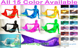 $enCountryForm.capitalKeyWord NZ - Sexy Mermaid Bodysuit Costumes Outfit New 15 Color Shiny Lycra Metallic Mermaid Suit Catsuit Costumes Unisex Halloween Cosplay Costume DH131