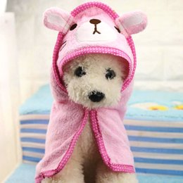 $enCountryForm.capitalKeyWord NZ - Cartoon Pet Bath Towel Funny Blanket for Dogs Cats Super Absorbent Puppy Yorkie Bathrobe Suit Chihuahua Clothing Product P250