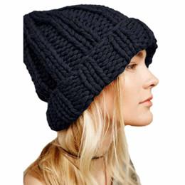 989d2ea7adb Women Fashion Keep Warm Manual Wool Knitted Earmuffs Hats Girls Caps Moda  feminina Casquette femme women's hats