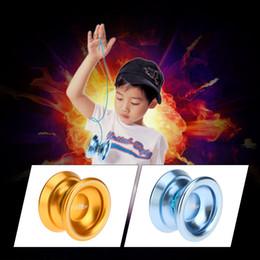 Metal Yoyo For Kids NZ - 2018 Professional Magic Yoyo T8 Aluminum Alloy Metal Yoyo 8 Ball KK Bearing with String for Kids Classic Toys 2 Colors Optioanl