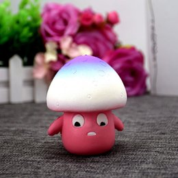 Outlet charms online shopping - top sales cell phone straps PU slow rebound toy Squishy new mushroom human foaming toys for children factory outlets oth594