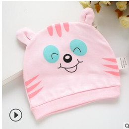 nature hats NZ - Newborn nature cotton hats cute animals smile face cats party birthday gifts cheapest hat kids photography props 168