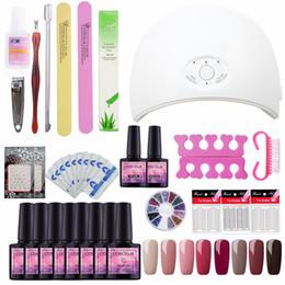 PurPle gel nail Polish online shopping - 24W W USB UV LED Lamp For Nail Dryer Machine pc pc Gel Polish Nail Art Tools Full Manicure Uv Gel Color Polish Laquer