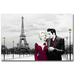 $enCountryForm.capitalKeyWord Australia - Elvis Presley   Marilyn Monroe Canvas painting quality home decor,Handpainted Figure Portrait Art Oil Painting On Canvas Multi Sizes P121