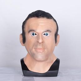 $enCountryForm.capitalKeyWord Australia - French President Emmanuel Macron Mask Latex Full Face Halloween Realistic Celebrity Adult President Cosplay Fancy Costume Props
