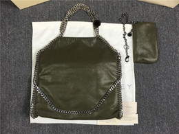 Black white outlet online shopping - Factory outlet Fold Over Tote chain Shaggy Deer Bag cm