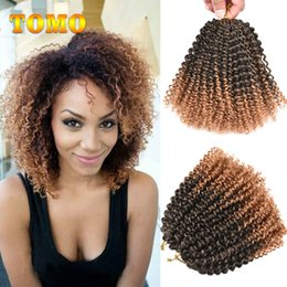 curly ombre crochet hair 2018 - TOMO Afro Kinky Twist Hair Ombre Marlybob Crochet Braids 24Roots Pack Synthetic Kanekalon Kinky Curly Crochet Hair Weave