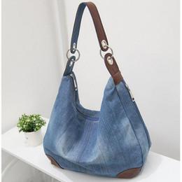 2017 Denim Handbags Large Women Bag Big Hobo Purses Ladies Hand bags Jean  Shopper Tote Luxury Designer Crossbody Messenger Bag 1e3290750809a